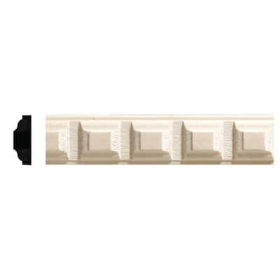 5/16 in. x 7/8 in. x 96 in. White Hardwood Dentil Moulding
