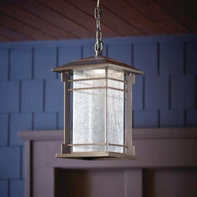 Oil Rubbed Bronze Outdoor Integrated LED Hanging Pendant Light