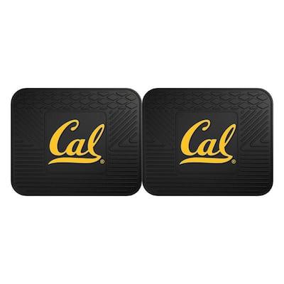 NCAA University of California - Berkeley Black Heavy Duty 2-Piece 14 in. x 17 in. Vinyl Utility Mat