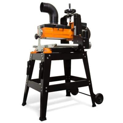 10.5 Amp 10 in. Drum Sander with Rolling Stand and Variable Speed Conveyor