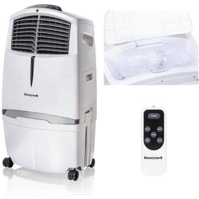 790 CFM 3-Speed Indoor Portable Evaporative Air Cooler with Remote Control for 320 sq. ft. in White