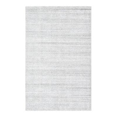 Halsey Ivory 9 ft. x 12 ft. Contemporary Solid Area Rug