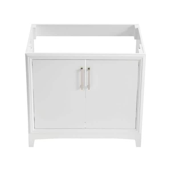 Glacier Bay Hillcroft 36 In W X 21 5 In D Unassembled Bath Vanity Cabinet Only In White 1342va 36 201 The Home Depot