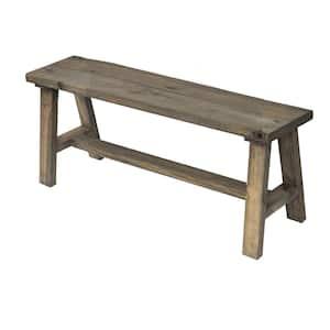 Del Hutson Designs Classic Dark Walnut Pine Wood Bench Deals