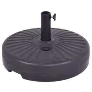 4.8 lbs. HDPE Patio Umbrella Base in Black