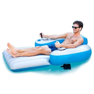 66 in. Inflatable Splash Runner Motorized Pool Lounger