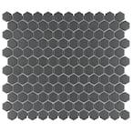 Gotham Hex Black 10-1/4 in. x 11-3/4 in. Porcelain Unglazed Mosaic Tile (8.56 sq. ft. /Case)