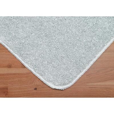 Gramercy Silver Solid Polypropylene 2-Piece Bath Mat Set