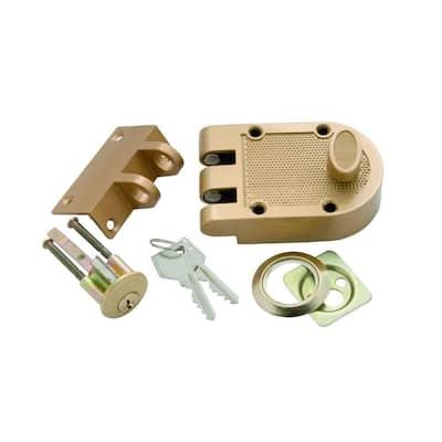 Polished Brass Single Cylinder Interlocking Door Deadbolt