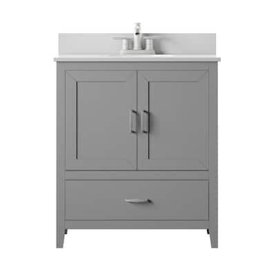 30 Inch Vanities Less Than 16 Bathroom Vanities With Tops Bathroom Vanities The Home Depot