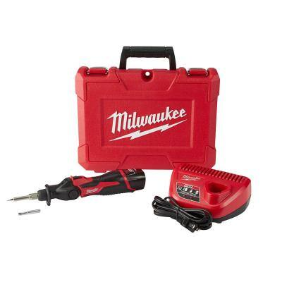 M12 12-Volt Lithium-Ion Cordless Soldering Iron Kit with (1) 1.5Ah Batteries, Charger & Hard Case