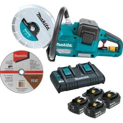 18V X2 (36V) LXT Lithium‑Ion Brushless Cordless 9 in. Power Cutter Kit, with AFT, Electric Brake, 4 Batteries (5.0 Ah)