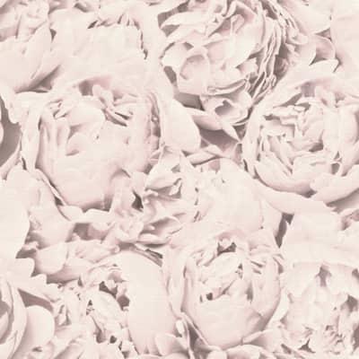 Rosenfield Light Pink Floral Wallpaper Sample