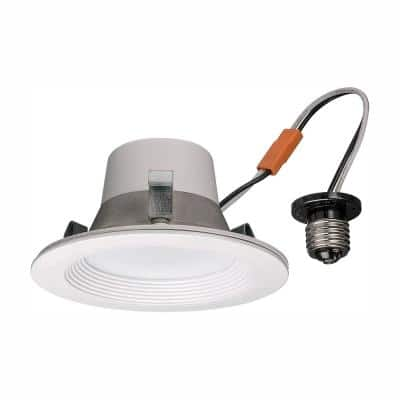 4 in.  Smart Wink Compatible Color Selectable CCT LED Recessed Light Trim 600 Lumens Dimmable Wet Rated