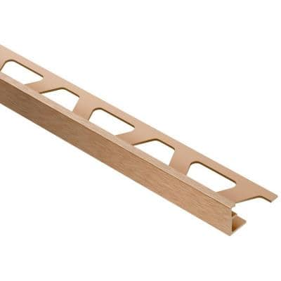 Jolly Brushed Copper Anodized Aluminum 5/16 in. x 8 ft. 2-1/2 in. Metal Tile Edging Trim