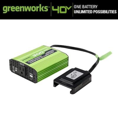 PRO 300-Watt 40-Volt Button Start Portable Power Inverter Generator (Tool-Only)