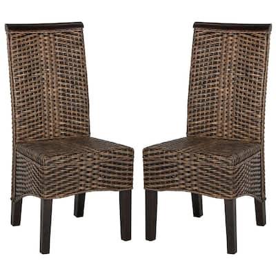 Ilya Wicker Chair in Brown Multi (2-Pack)
