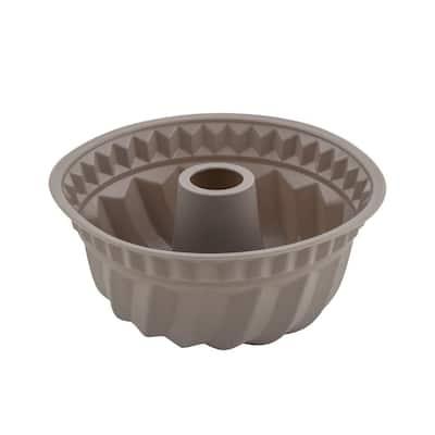 Silicone 10 in. Round Deep Savarin Cake Baking Pan. BPA Free Heat Resistant Dishwasher Safe