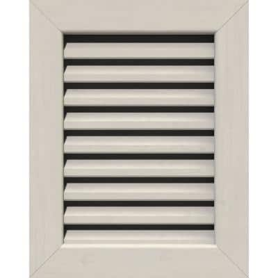17 in. x 19 in. Rectangular Primed Smooth Pine Wood Built-in Screen Gable Louver Vent