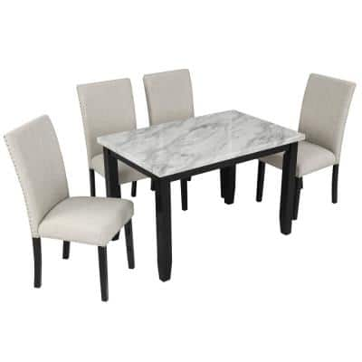 Marble Dining Room Sets Kitchen Dining Room Furniture The Home Depot