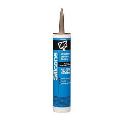 Silicone 10.1 oz. Bronze Window, Door and Siding Sealant (12-Pack)