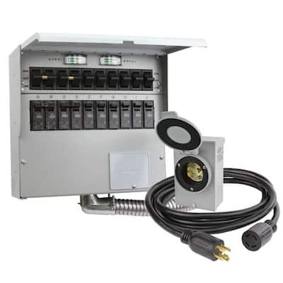 10-Circuit 30 Amp Manual Transfer Switch Kit