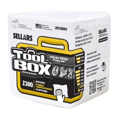 Z300 Quarterfold Wipers (90-Count; 12 Bundles/Case; 1,080 Sheets/Case)