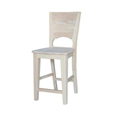 Canyon 24 in. Unfinished Wood Bar Stool