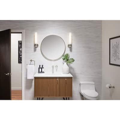 """Wall Mirror by KOHLER, Vanity Mirror, Round 28"""", Brushed Nickel, K-26050-BNL"""