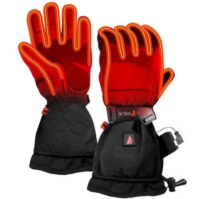 Women's Small Black 5V Battery Heated Snow Gloves