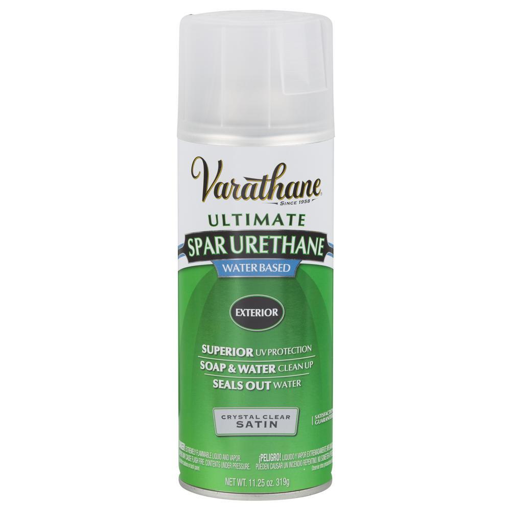 11.25 oz. Clear Satin Spar Urethane Spray Paint (6-Pack)