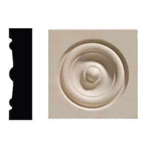 642C 5/8 in. x 2-1/2 in. x 2-1/2 in. White Hardwood Corner Block Moulding