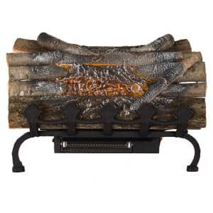 20.5 in. Crackling Electric Fireplace Logs with Grate and Heater