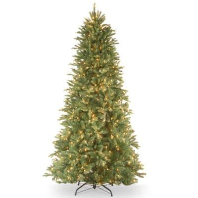7 ft. Feel Real Tiffany Fir Slim Hinged Tree with 550 Clear Lights