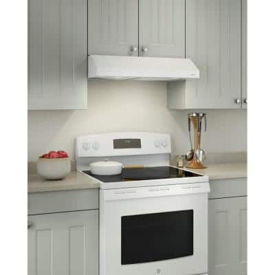 Glacier 36 in. Convertible Under Cabinet Range Hood with Light in White