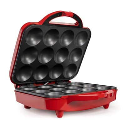 1200W 12-Count Red Cupcake Maker