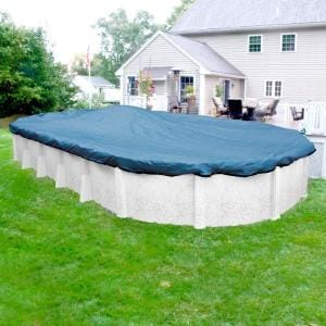 Econo Mesh 18 ft. x 33 ft. Oval Blue Mesh Above Ground Winter Pool Cover