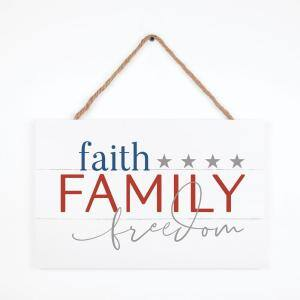 Faith Family Individual White Decorative Sign