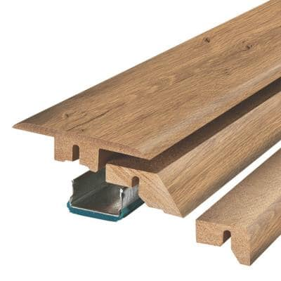 Golden Rustic Oak 3/4 in. Thick x 2-1/8 in. Wide x 78-3/4 in. Length Laminate 4-in-1 Molding