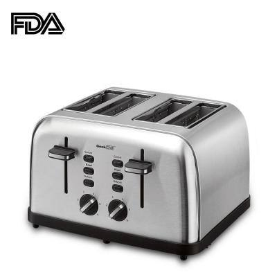 1500-Watt 4-Slice Stainless Steel Long Slot Toaster