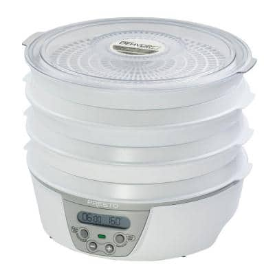 Dehydro 6 Tray White Digital Electric Food Dehydrator with Digital Thermostat and Timer