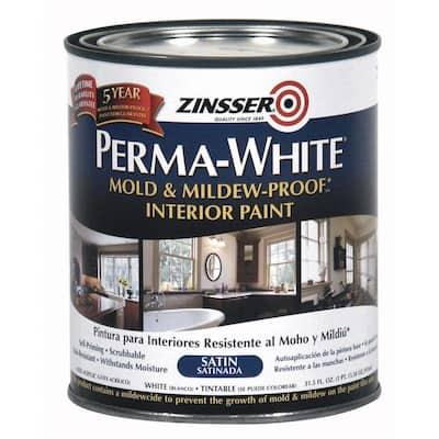 Perma-White 1 qt. Mold & Mildew-Proof Satin Interior Paint (6-Pack)