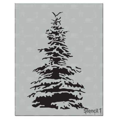 Snowy Pine Stencil