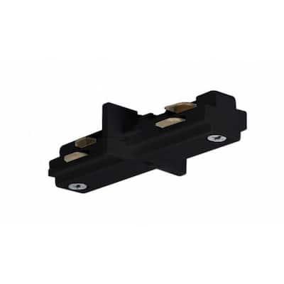 Black Track Lighting Mini Straight Connector