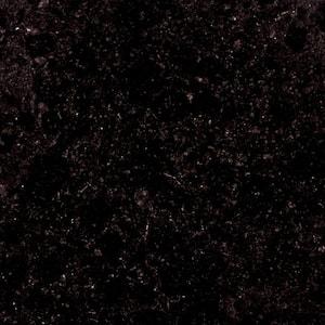 4 in. x 4 in. Midnight Black Granite Sample