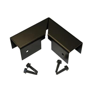 Santa Fe and Mesa 4 in. x 4 in. Black Metal Flat Top Corner Post Cap with Screws