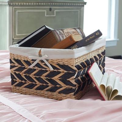 Decorative Storage Basket with Removable Cotton Liner