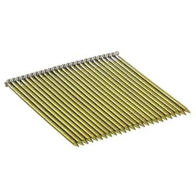 3 in. x 0.120 in. Wire Bright Steel Round-Head Framing Nails (2,000 per Box)