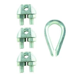 3/32 in. x 1/8 in. Zinc-Plated Clamp Set (4-Pack)