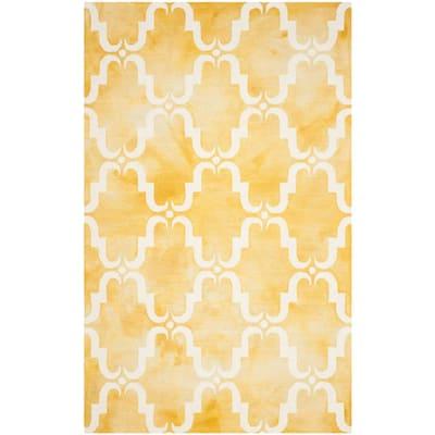 Dip Dye Gold/Ivory 4 ft. x 6 ft. Area Rug